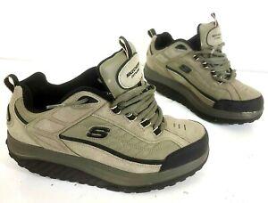 Sketchers men's Shape-Ups Shoes Olive & Black sz 9  MINT CONDITION!