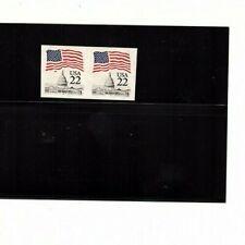 #US Stamp ERROR Sc 2115f  pair FLAG OVER CAPITOL IMPERF   (mb10 error book