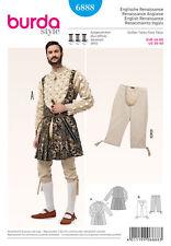 Burda 6888 SEWING PATTERN Renaissance Shakespeare Henry VIII Men 36-50 Costume