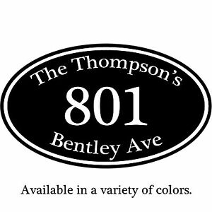 """Personalized Home Address Plaque Aluminum Sign 12"""" x 7"""" - Your Choice Of Colors"""