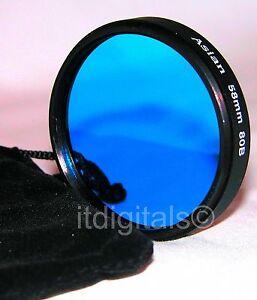 52mm 80B Blue Lens Filter B&W Color Film Digital 80-B  52 mm Circular Camera