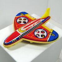 Tin Plastic Friction World Jet Lines JX 88 Toy Plane Passenger Airplane Vintage