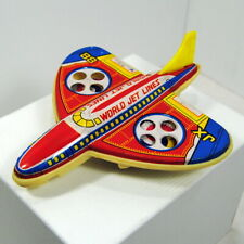 Tin Plastic Friction World Jet Lines JX 88 Toy Plane Passenger Airplane Vintage