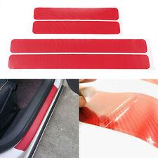 4x 3D Red Universal Auto Stickers Decals Protector Car Door Anti-scratch Sticker