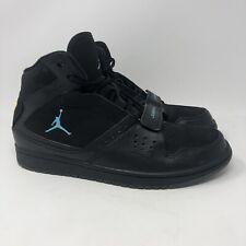 Rare NIKE 628584-090 Air Jordan Black 1 Flight Strap Basketball Shoes Size 10.5