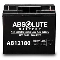 NEW AB12180 12V 18AH SLA Battery for 24 HP Kawasaki Zero-Turn Riding Mower