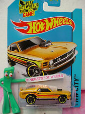 Case Q/A 2015 2014 Hot Wheels '70 FORD MUSTANG MACH 1 1970 #97 ∞lgt ORANGE~50th