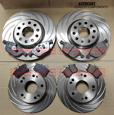 FOR AUDI A5 3.0 TDI 07-11 GROOVED FRONT & REAR BRAKE DISCS & PADS NEW