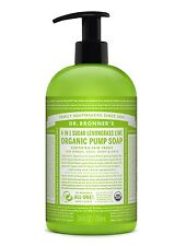 DR BRONNER`S ORGANIC 4-in-1 SUGAR LIME & LEMONGRASS PUMP SOAP 710ml - FAIRTRADE