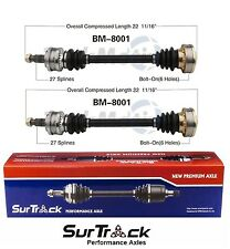 For BMW 318i 318is 325e 325i RWD 84-93 Pair of Rear CV Axle Shafts SurTrack Set