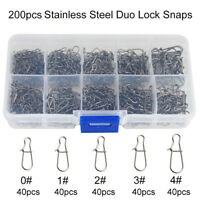 200pcs Duo Lock Snaps Stainless Steel Nice Snaps Tackle Connector Size 0 1 2 3 4