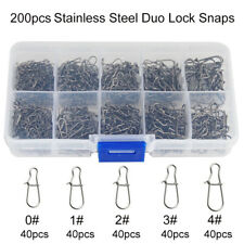 200pcs Duo Lock Snaps Black Stainless Steel Snaps Connector Size 0 1 2 3 4