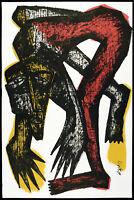 Kunst in der DDR, 1989. Grosse Mischtechnik Klaus SÜSS (*1951 D), handsigniert