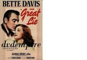 The Great Lie DVD Bette Davis Brand New & Sealed Australian Release