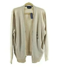 Nautica Cardigan Button Down Sweater Oatmeal Size L Pima Cotton Blend Womens