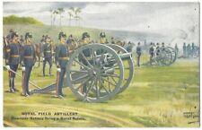 Royal Field Artillery Howitzer Battery Gale & Polden Postcard, Unused