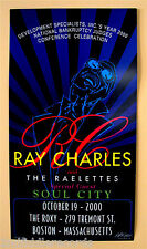 RAY CHARLES & THE RAELETTES-Signed BOB MASSE Poster-THE ROXY Oct. 19, 2000