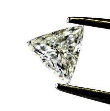 loose GIA certified trillion .73ct diamond I1 I vintage estate antique
