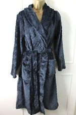 Small 10-12UK Next Ladies Charcoal Diamond Print Soft Fleece Dressing Gown  Robe f62ea13fa