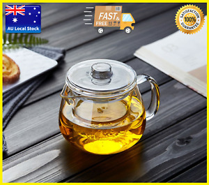 Penguin Style Glass Teapot With Glass Infuser Tea Maker 600ml 2nd Generation