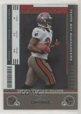 2005 Playoff Contenders Ticket /25 Cadillac Williams #115 Rookie Auto