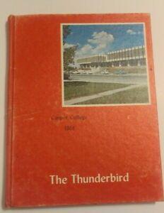 Vintage 1968 Casper College Wyoming Year Book Yearbook The Thunderbird