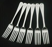 6 Antique Silver Table Dinner Forks, London 1827, John Hayne