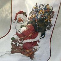 Needle Treasures Cross Stitch Christmas Stocking Kit Santa and His Pack Stocking