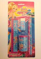 NICI 34710 Schreibwarenset Barbie Lineal spitzer Radiergummi 2 Bleistifte