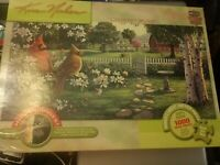 Jigsaw puzzle 1000 pc panoramic Kim Norlien Birds Country Music Masterpieces