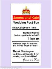Personalised Royal Mail Any Size Any Colour Post Box Wedding Card Box