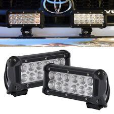 "2x 6""inch 36W CREE LED Work Light Bar Flood Offroad Jeep 4WD Pickup Fog 7"""