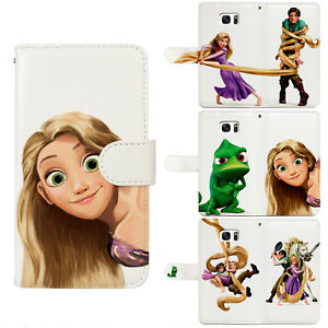 Tangled Rapunzel Pascal Flip Wallet Phone Case fit for iPhone & Samsung