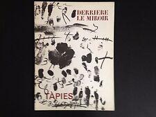 Derriere le Miroir 175, Antoni Tapies, lithographs, Maeght 1968 vintage INV2088