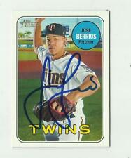 Minnesota Twins JOSE BERRIOS Signed 2018 Topps Heritage Card #290