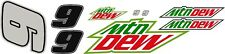 #9 Chase Elliot Mountain Dew R/C car decal kit