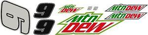 #9 Chase Elliot Mountain Dew R/C car decal kit