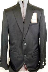 Haggar-Mens Travel Performance Suit Coat Jacket-38 Regular, Black, New w/ Tags!