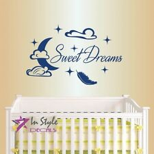 Vinyl Sweet Dreams Clouds Stars Kids Bedroom Baby Boy Girl Nursery Decor 1706