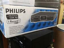 PHILIPS CDR 765 HIGH SPEED DUEL COMPACT DISC RECORDER PLAYER 💯% TESTED
