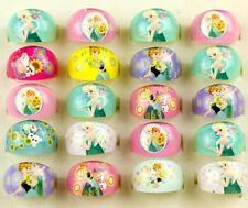Wholesale 100 Pcs Mix Resin Disney Princess Children Rings gifts J-04