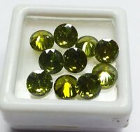 Natural Green Color Zircon Round Shape Loose Gemstone Lot