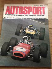 Autosport December 18th 1969 *F3 Seasonal Survey*