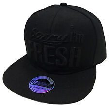 SNAPBACK FRESH CAP KAPPE BASECAP MÜTZE HIP HOP COOL TRUCKER CAPPY ALL SCHWARZ
