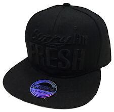 b39a6350e6d Snapback Fresh Baseball Cap Hat Hip Hop Cool Trucker Cappy all Black