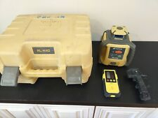 Topcon Rl-H4C Self Leveling rotary laser level Topcon Ld-8 Receiver Working