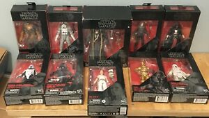 Star Wars The Black Series 6-inch Lot Of 10 Action Figures By Hasbro
