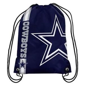 Dallas Cowboys Back Pack/Sack Drawstring Gym Bag Sport Backpack New Side Stripe