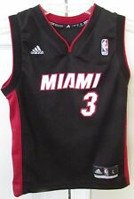 NBA Miami Heat Dwayne Wade #3 Kids Replica Jersey Large by Adidas EUC