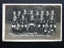 More details for wales cowbridge grammar school rugby under 19's team 1934 rp postcard